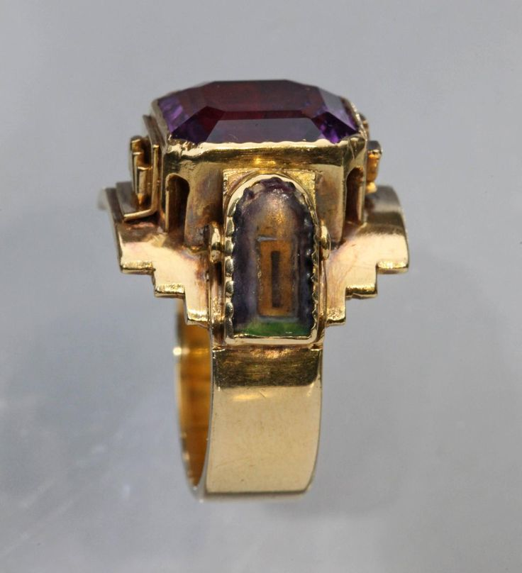 Arts and Crafts Ecclesiastical Ring 4