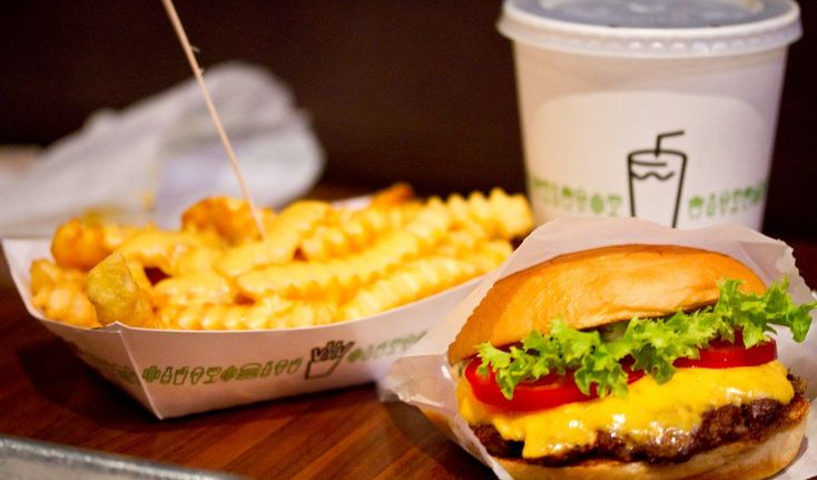 """The Shackburger at Shake Shack.Where: Locations throughout Manhattan and Brooklyn Cost: $5.19 for the burger """"Shake Shack may not have the cheapest burger in NYC, but I'll pay for a shackburger, crinkle cut fries, and a vanilla concrete ANY day."""" —Jess Dante  