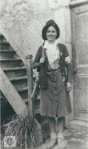 Photo de lagent de liaison, Mimi, des FFI de lAin, 1944