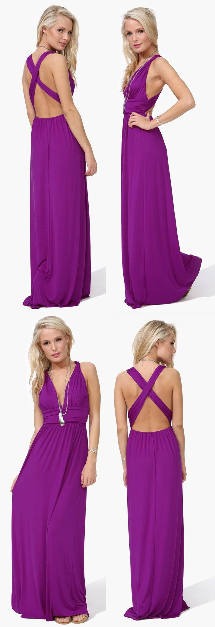 Love this Maxi Dress but I just wish it wasn't so bright (or an entirely different, neutral color). Great shape though!