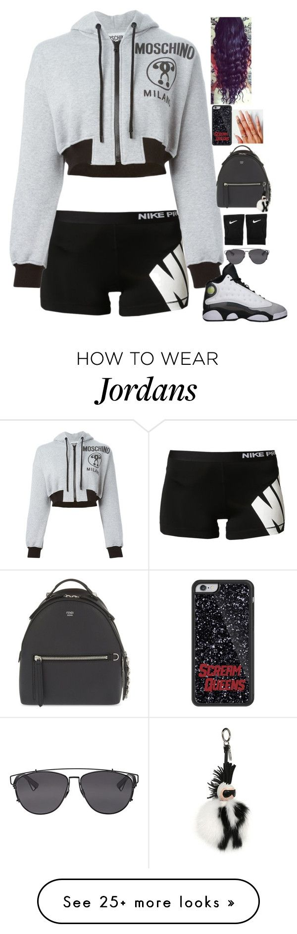 """Untitled #246"" by madeforfashion on Polyvore featuring NIKE, Moschino, Retrò, Fendi and Christian Dior"