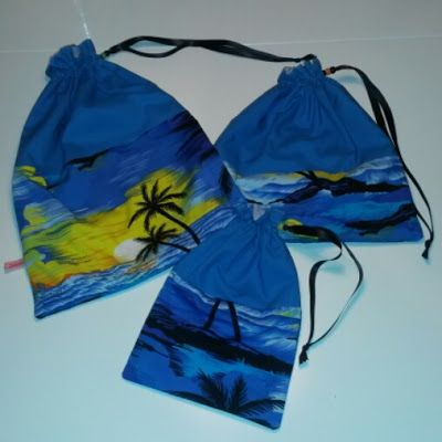 Wäschesäcke für die Reise Laundry bag for Travellers Upcycling Hawaiihemd