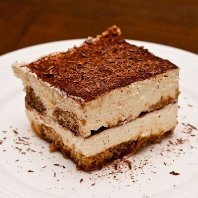 "Traditionally served in the afternoon as a ""boost"", tiramisu contains both caffeine and alcohol in a creamy cheese mixture served in layers"