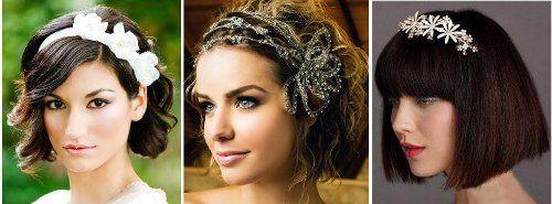 Svatební účesy ze středně dlouhých vlasů