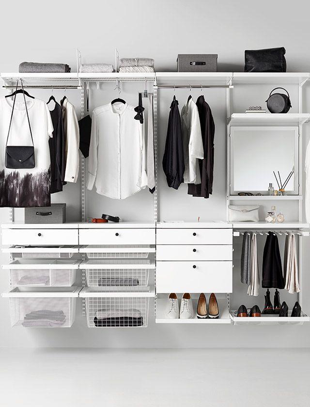 Elfa Planen Sie Hier Ihre Eigene Garderoben Und Aufbewahrungslosung Oppen Garderob Garderob Kladkammare