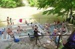 """video INCREDIBIL! De 2000 de ani, oamenii fac baie la fel în """"spa""""-ul natural de pe Valea Cernei, lângă Băile Herculane"""