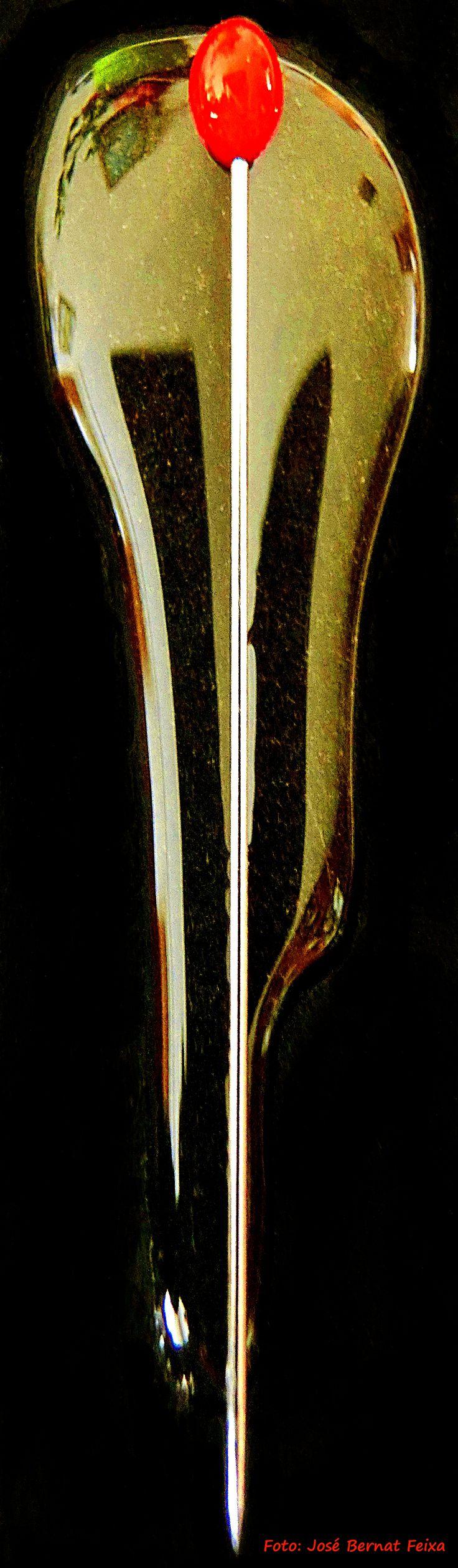 Kopspeld op honingbed (macrofoto)