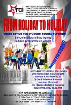 Corso estivo di inglese - per studenti delle Scuole Superiori - ViaVaiNet - Il portale degli eventi