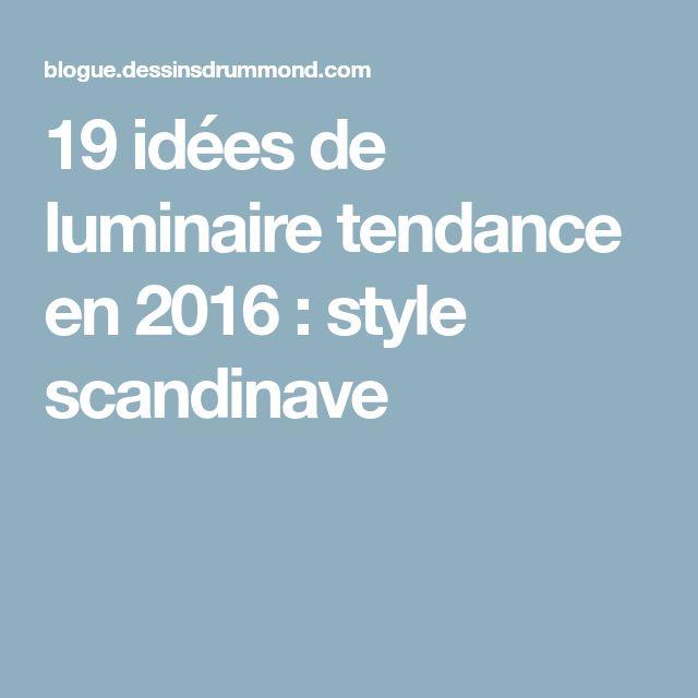 19 idées de luminaire tendance en 2016 : style scandinave