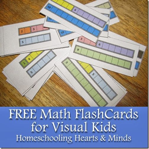Free Full-Color Fact Family Math Cards for Visual Kids at Homeschooling Hearts & Minds