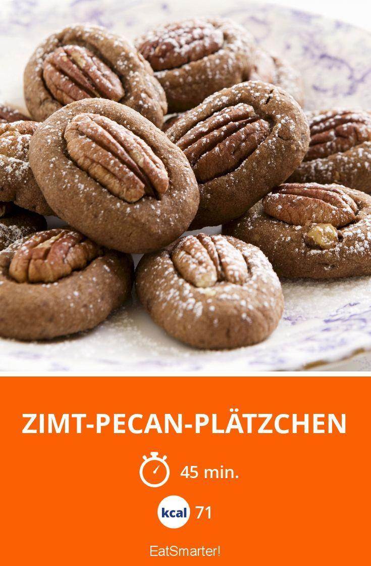 Zimt-Pecan-Plätzchen - smarter - Kalorien: 71 kcal - Zeit: 45 Min. | eatsmarter.de