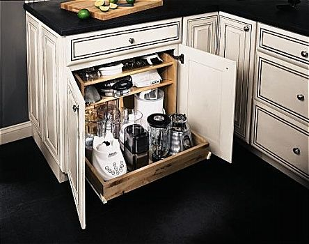 Small Appliance Drawer Small Parts And Lids Up Top Or