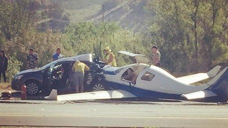 Plane crashes into car on California highway kills roller derby 'starlette' (VIDEOS PHOTOS) http://ift.tt/238Zpf8   A bizarre accident near San Diego California featuring a four-seat plane crash-landing into a parked car on Interstate 15 claimed the life of a local roller derby player. Even more bizarre its not the aircrafts first emergency landing on this highway.Read Full Article at RT.com Source : Plane crashes into car on California highway kills roller derby starlette (VIDEOS PHOTOS)…
