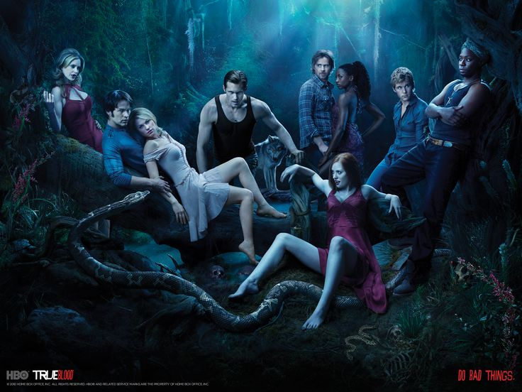 True Blood - love this pic of the cast from season 3...psst. Alcide is in his wolfy form lol: Bad Things, Favorite Tv, Vampire, True Blood, Trueblood, Seasons, Movies, Book, Tv Serie