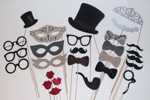 Vintage Inspired Photo Booth Props  Features by PAPERandPANCAKES, $50.00