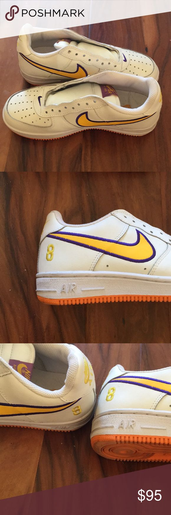 Kobe Bryant edition Air Force 1's SPECIAL EDITION KOBE BRYANT NIKE Air Force 1's Men's Size 9. LIKE BRAND NEW! Nike Shoes Sneakers