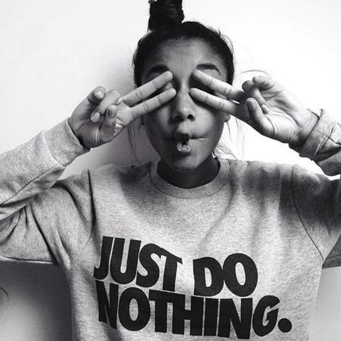 Just Do Nothing Women Casual Long Sleeve Hoodie