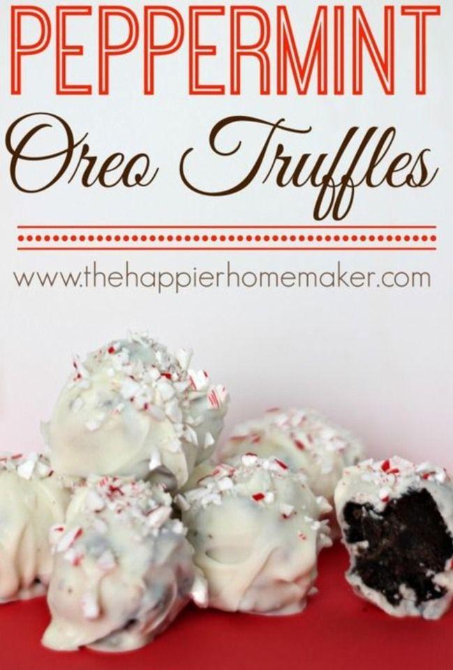 Peppermint Oreo Truffles | Food | Pinterest