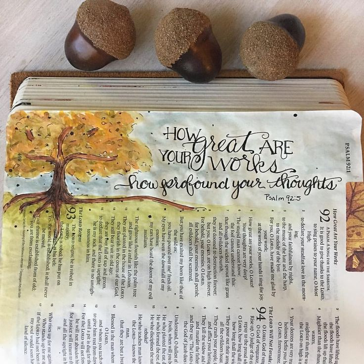 """Psalm 92:5 """"How great are your works, oh Lord. How profound are your thoughts."""" . . . . . #biblejournalingcommunity #documentedfaith #illustratedfaith #30daysofbiblelettering #biblejournaling #bibleverse #journalart #psalm92 #biblejournal #biblestudy #createdtocreate #faithart #soulscripts #dailydevotional #womenintheword #scriptureart #devotional #noteworthytruth #everythingchristian #everydaybiblelettering #bedeeplyrooted #letteringscripture #handlettering #dailydevotions #scripture"""