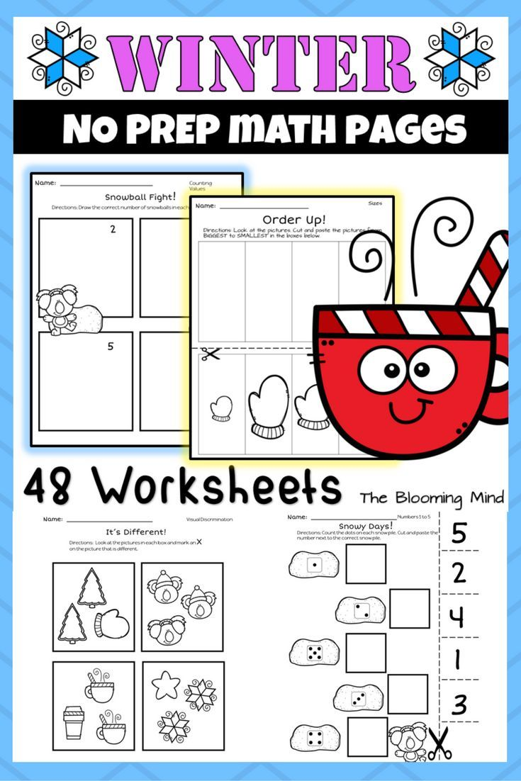 These Print And Go Winter Math Worksheets Will Help Your Preschool Or Kindergarten Students Go Math Kindergarten Winter Math Worksheets Kindergarten Worksheets [ 1102 x 735 Pixel ]