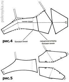 patronage lingerie - Базовая выкройка бюстгальтера | pokroyka.ru-уроки кроя и шитья