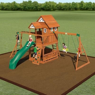 Sheds USA Installed Voyager Cedar Playset-46213 - The Home Depot