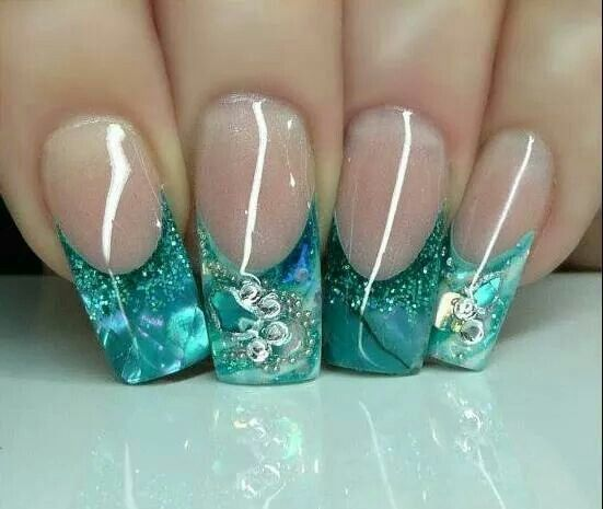 Aqua Nail Art: 213 Best Images About Gel Nails Designs Pictures Gallery