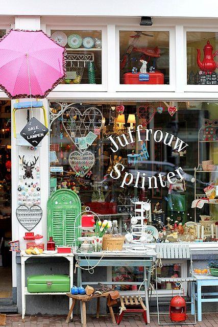 "Charming shops of Amsterdam ""Juffrouw Splinter"" by cafe noHut, via Flickr"