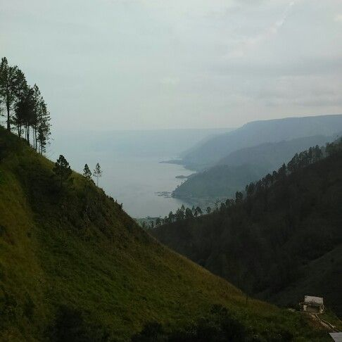 Toba lake, viewed from Tana Karo