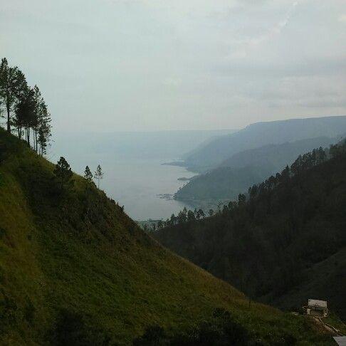 Toba lake, viewed from Tana Karo