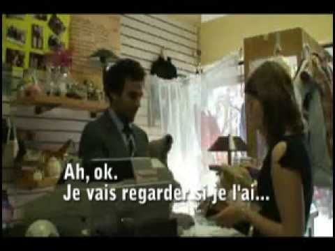 Very useful clothes shopping dialogue in Canadian French. Introduces trop grand et trop petit and paying.