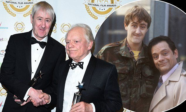 Lovely jubbly! David Jason, 77, and Nicholas Lyndhurst, 55, celebrate a lifetime achievement gong at the National Film Awards, 14 years after Only Fools and Horses -   They spent two decades as lovable wheeler dealer Del Boy and 'plonker' Rodney Trotter dreaming up get rich quick schemes in local pub The Nag's Head... See more at...
