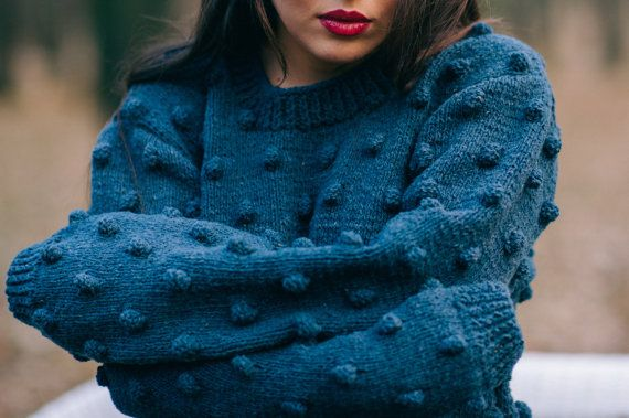 Grey Wool Sweater by Ioana Petre Store on Etsy