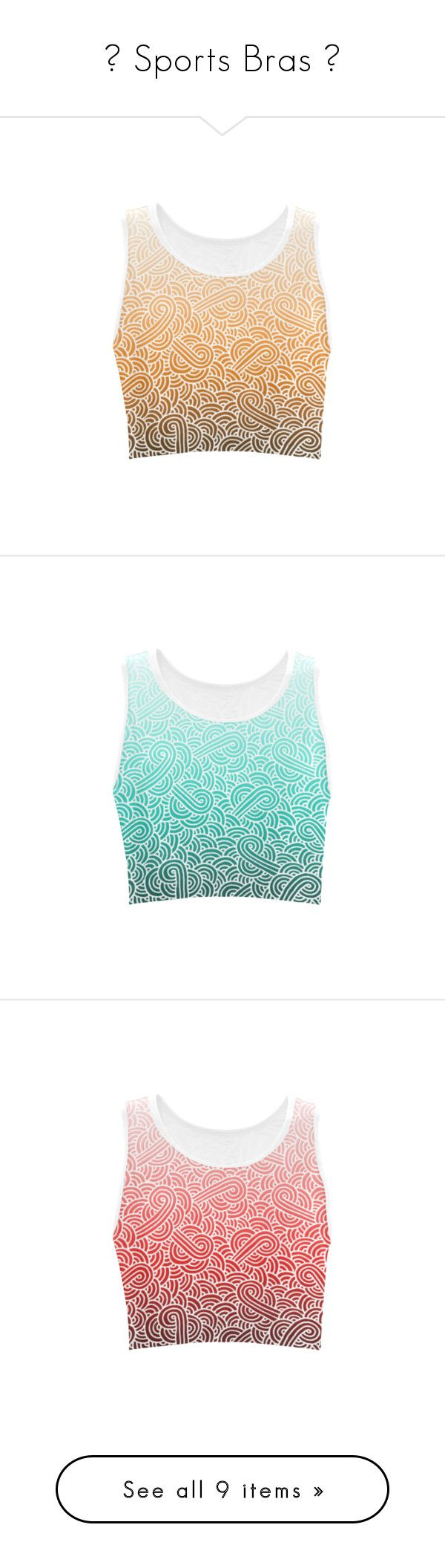 """""""★ Sports Bras ★"""" by savousepate ❤ liked on Polyvore featuring activewear, sports bras, women, white sports bra, orange sports bra, purple sports bra and green sports bra"""