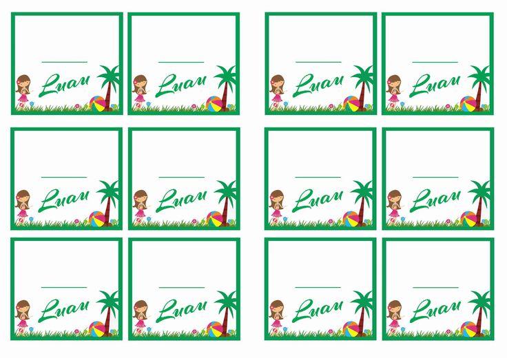 Hawaiian Tag: FREE Printable Luau Themed Name Tags