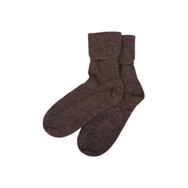 Cashmere Socks - Women's Cashmere Socks   Brora ($37) ❤ liked on Polyvore featuring intimates, hosiery, socks, accessories, underwear, cashmere socks and brora