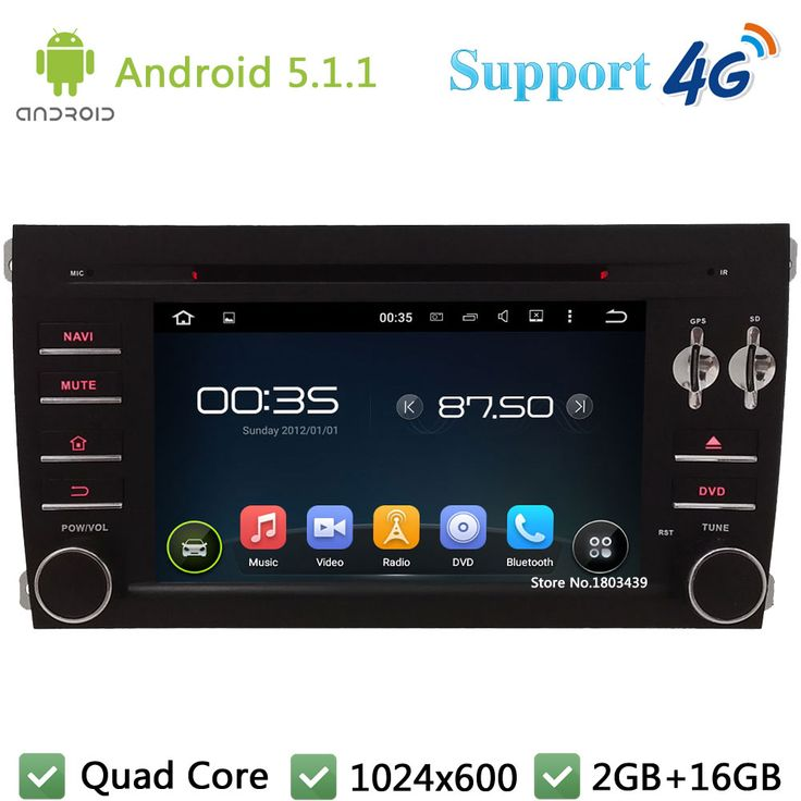 """Quad Core 7"""" 1024*600 Android 5.1.1 Car DVD Player Radio Stereo Screen FM DAB+ 3G/4G WIFI GPS Map For Porsche Cayenne 2003-2010"""