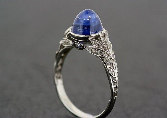 Art Deco Sapphire Ring  Antique 1920s van AlistirWoodTait op Etsy