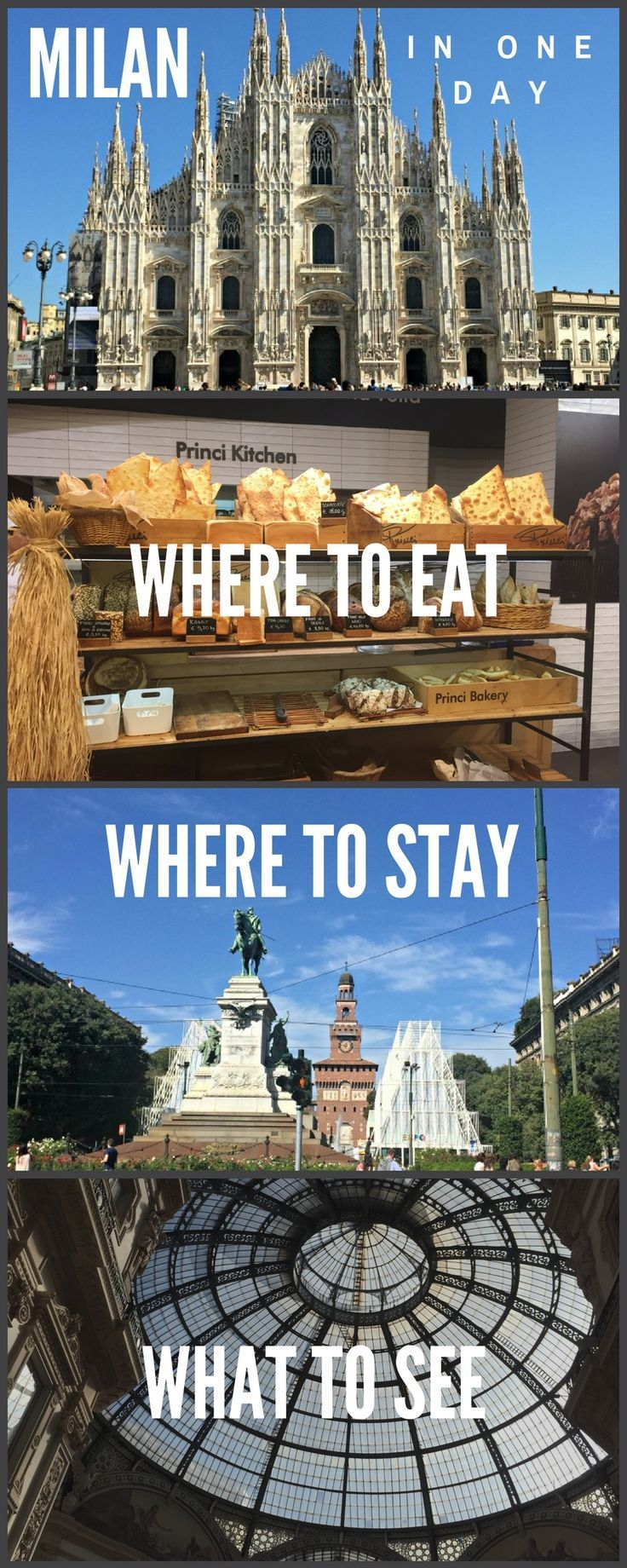 A guide to the best things to see in Milan, where to eat in Milan and where to stay if you have 1 day in the city. Click on pin to find insider's tips about Milan's best food and attractions. Milan in a day | how to spend one day in Milan | what to see in Milan Italy