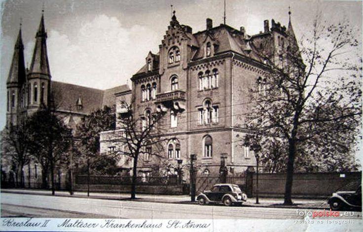 1930 , Szpital św. Anny i kościół św. Henryka.Gliniana. genialne zdjęcie <3