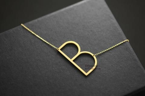 Best 20+ Initial Necklace Gold ideas on Pinterest ...