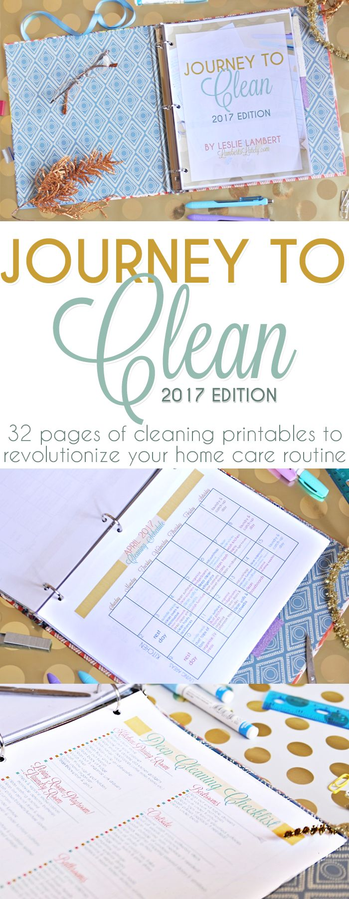 This Journey to Clean eBook is awesome!  This is a collection of printables that let you start a monthly cleaning schedule for your home. It includes a printable notebook and detailed instructions on how to integrate the cleaning schedule into your daily life. Great deep cleaning ideas too!