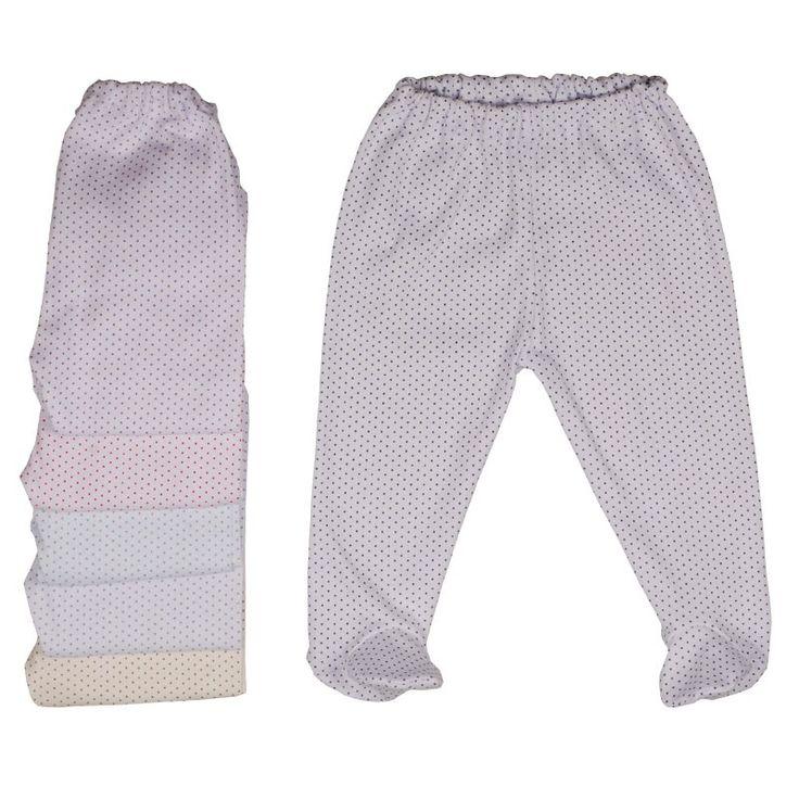 Pantaloni cu botoșei din bumbac imprimat cu buline