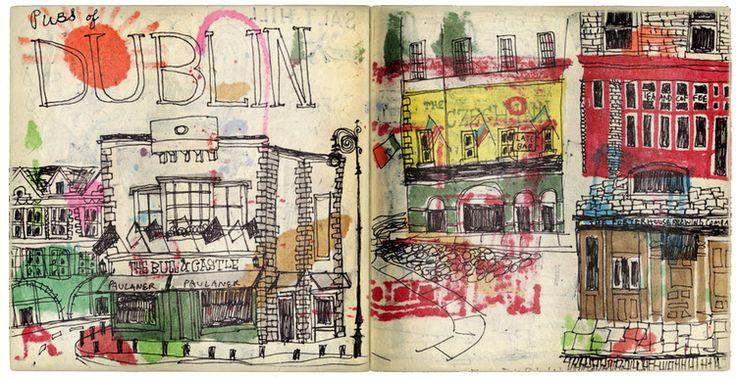 Paintings of Dublin, travel art