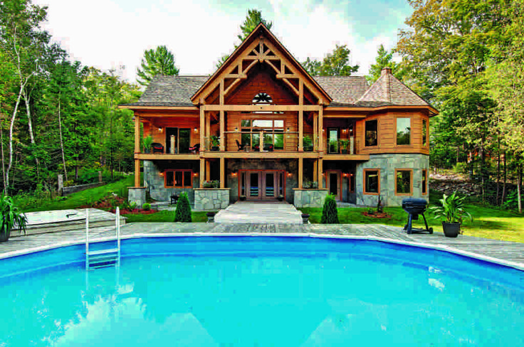 A Distinctive Canadian Log Home | Cabin, Logs and Covered