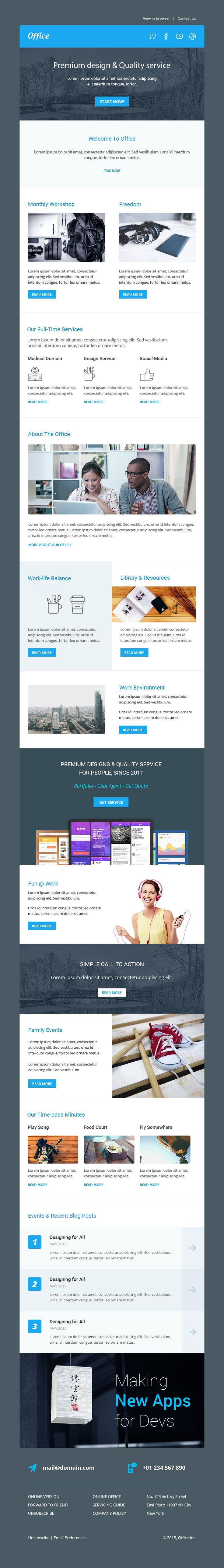 168 best best html email templates images on pinterest office multipurpose responsive email template stamp ready builder pronofoot35fo Image collections