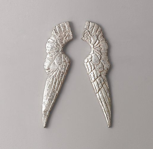 Small Pewter Angel Wings Restoration Hardware