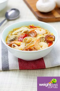 Spanish Prawn Noodle Soup. #HealthyRecipes #DietRecipes #WeightLossRecipes weightloss.com.au