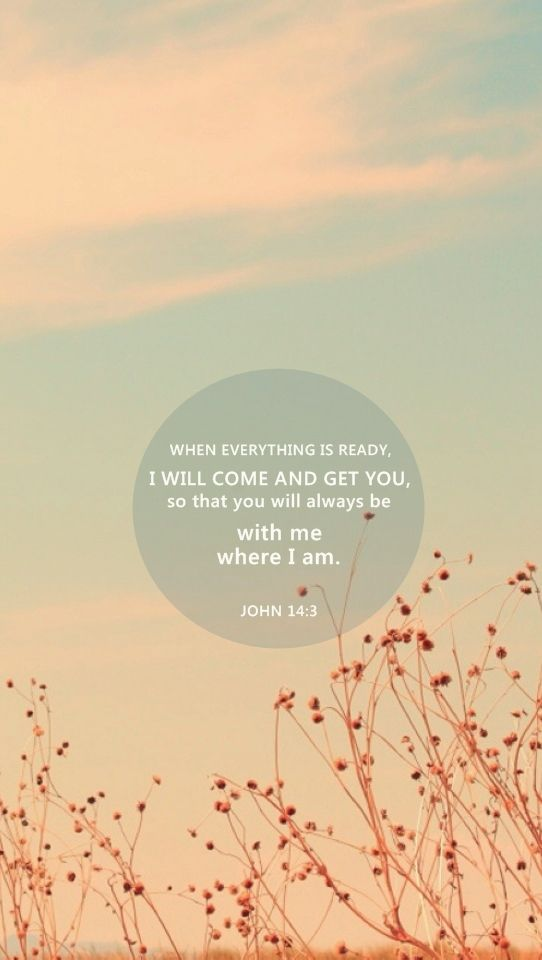 John 14:3.  That is the ultimate goal but it is hard to let go of loved ones even though we know we will see them again!: