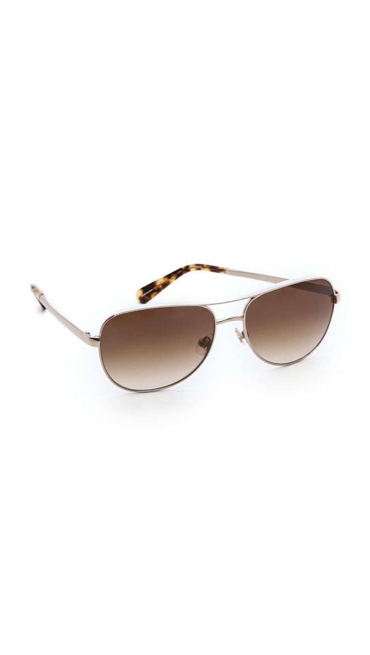 KATE SPADE NEW YORK Dusty Sunglasses in Almond/Brown Gradient.